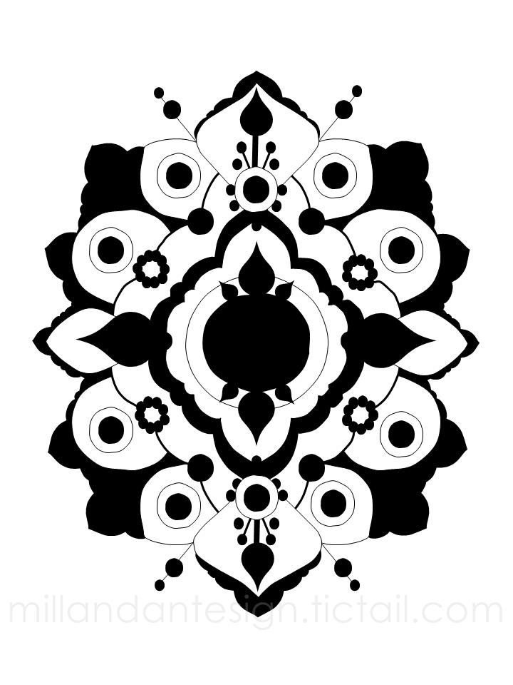 Akantus grafiskt print inredning present millandante.se