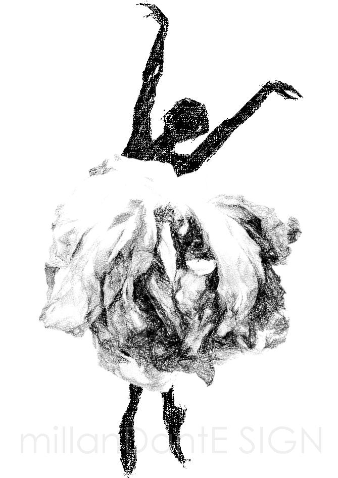 Dansa i en ros grafiskt print millandante.se