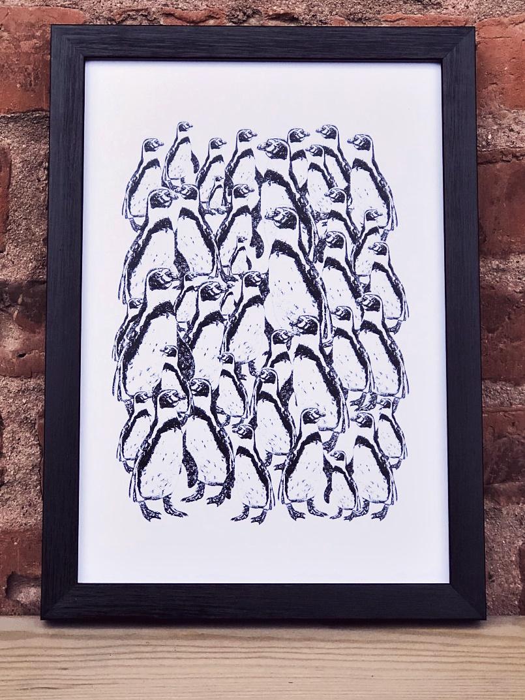 Det går pingviner grafiskt print design millandante.se