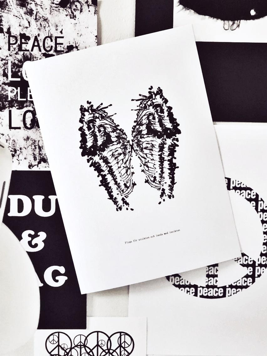 Flyga för utsikten grafiskt print inredning millandante.se