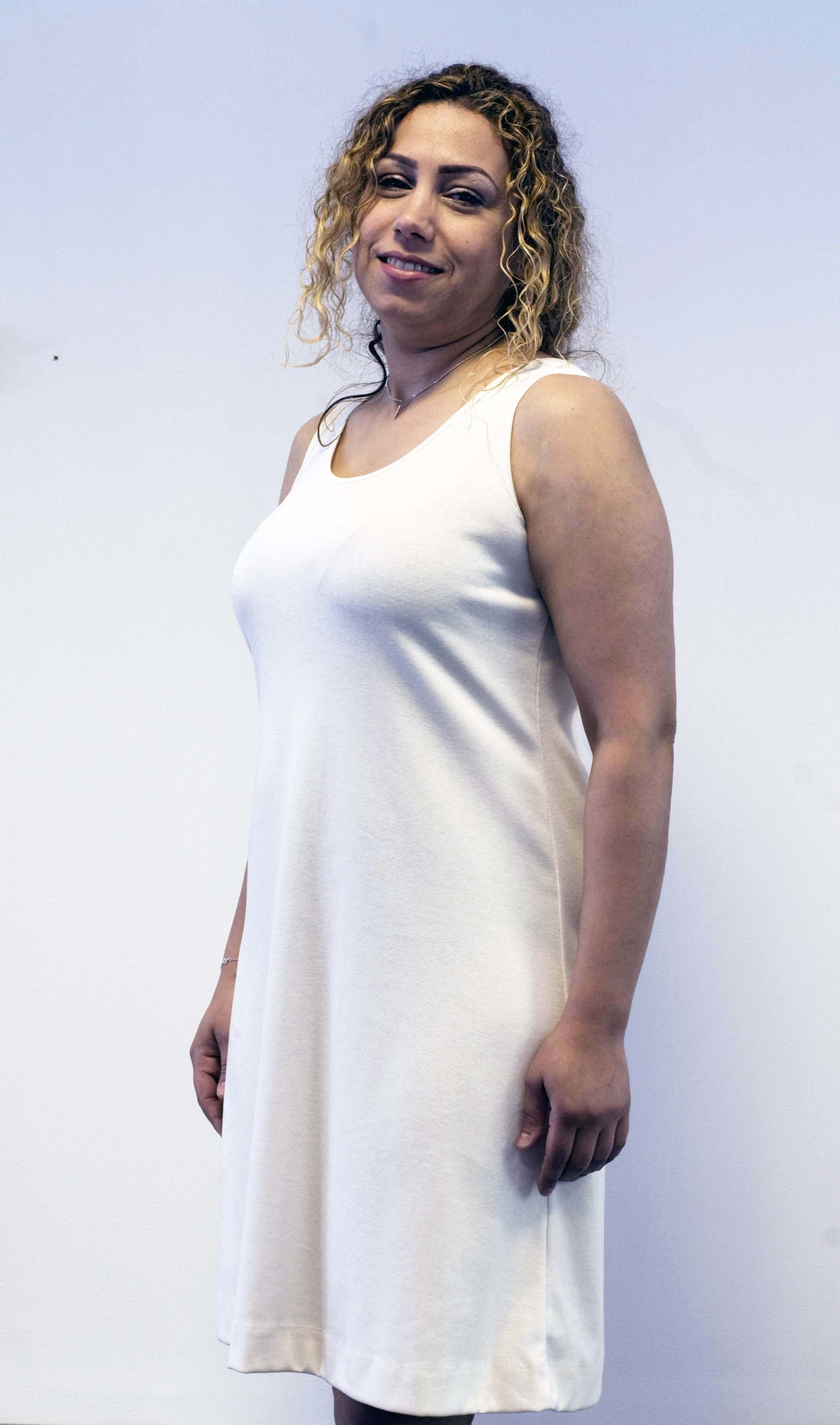 Klänning offwhite 1