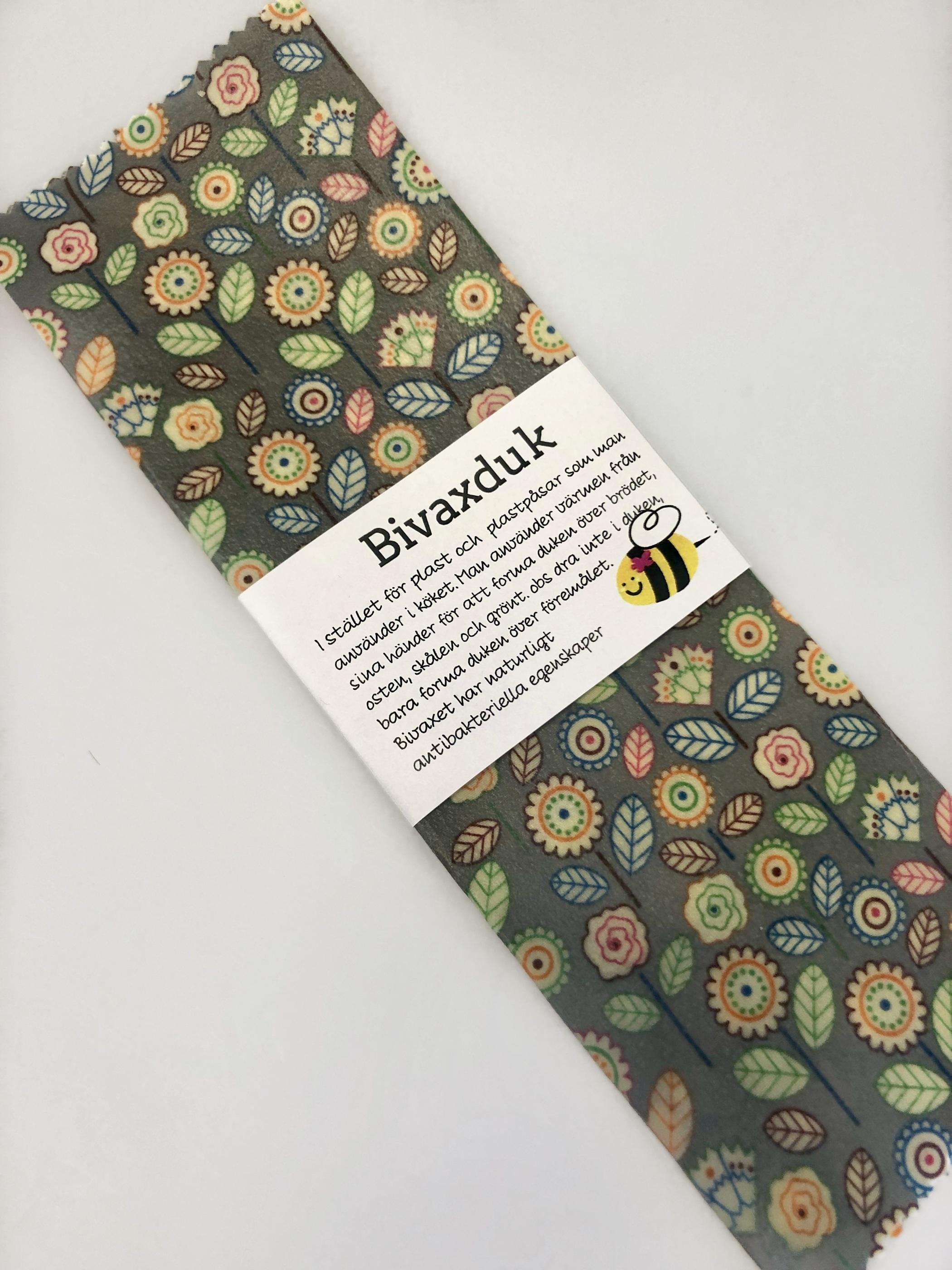 Färgstarka-blommor -bivaxduk