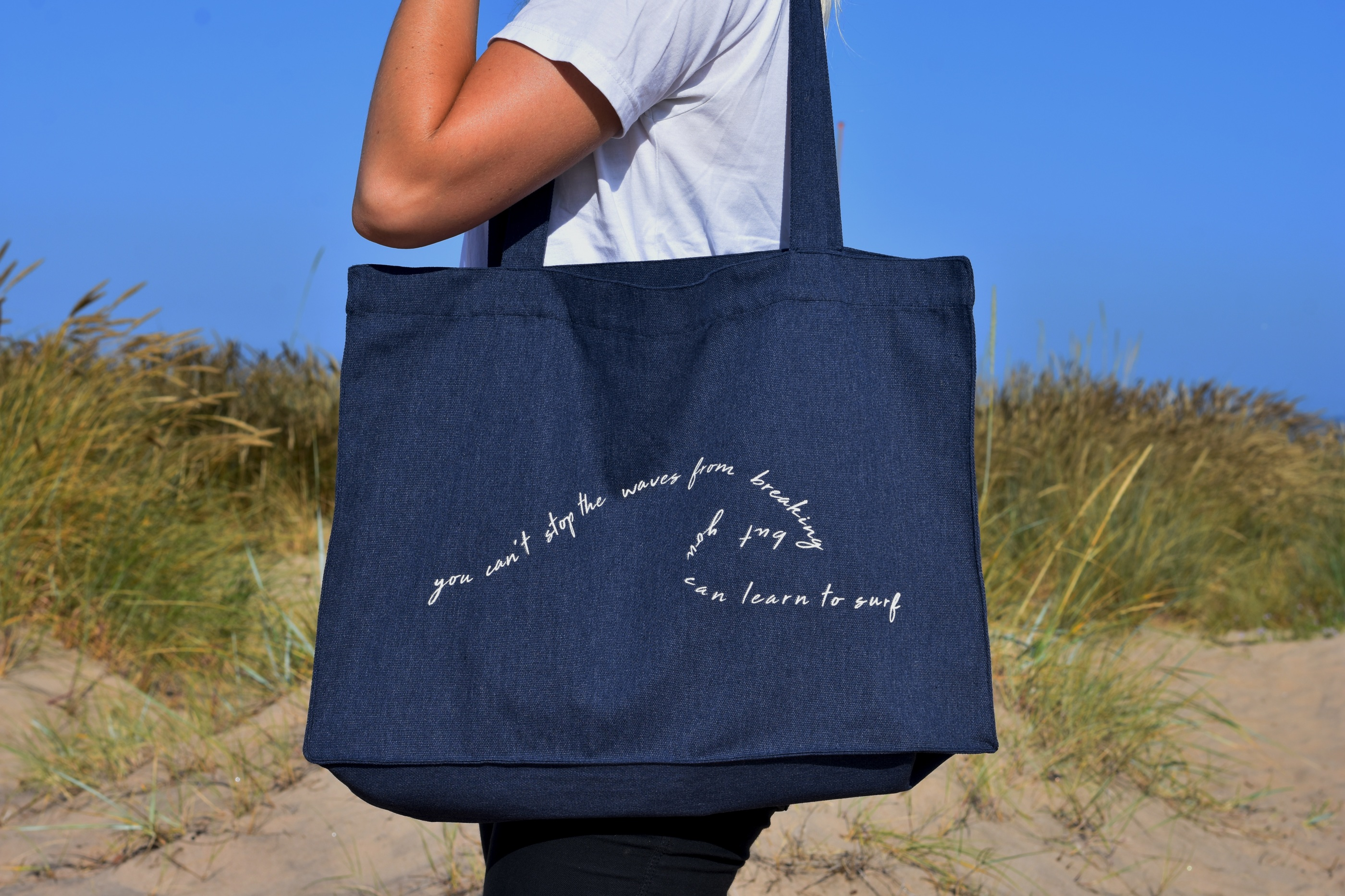Beach bag blue