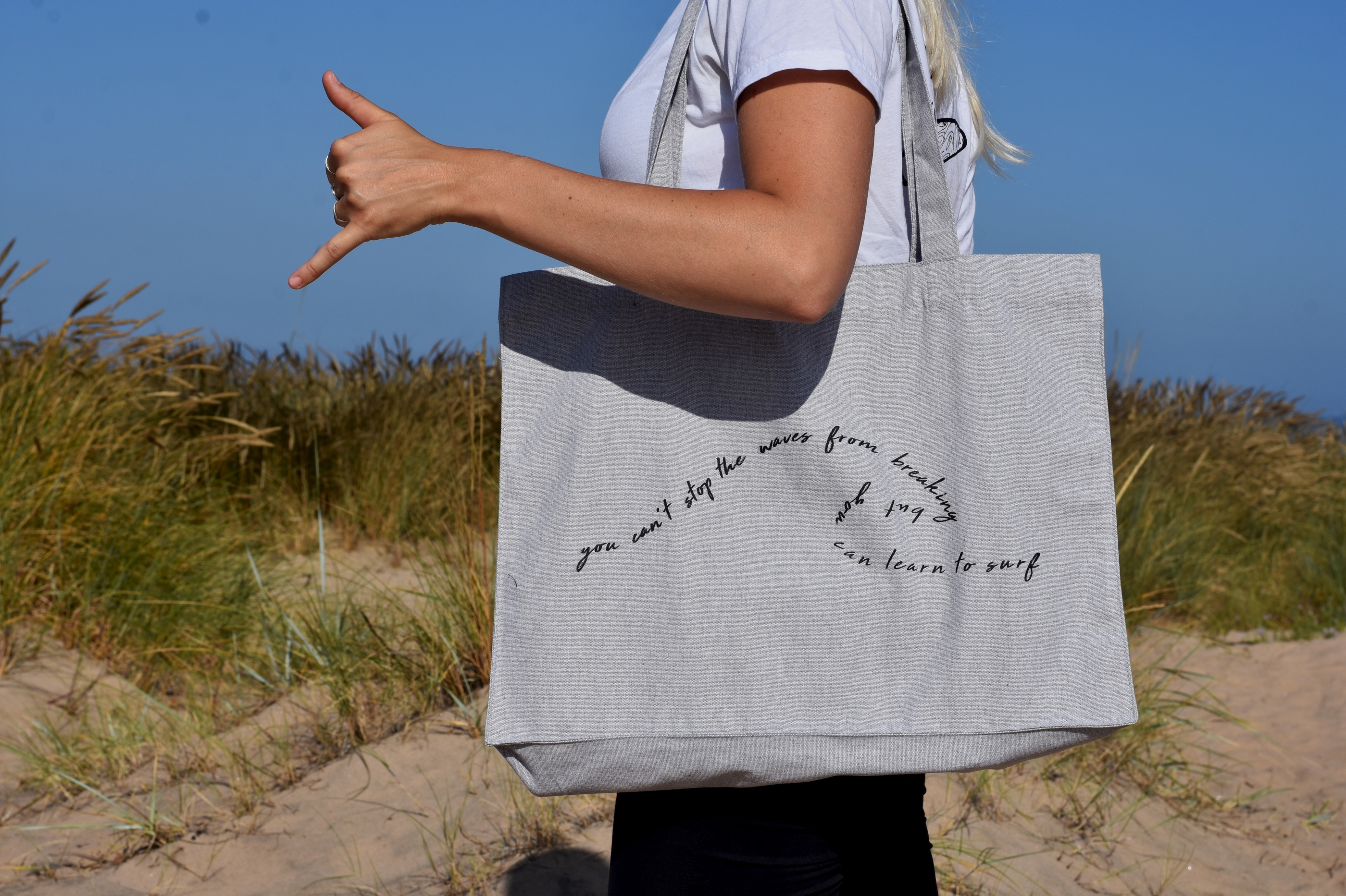 Beach bag grey