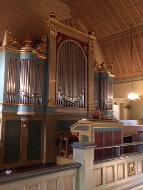 Orgel i Tåsjö kyrka. foto Margareta Dahlén