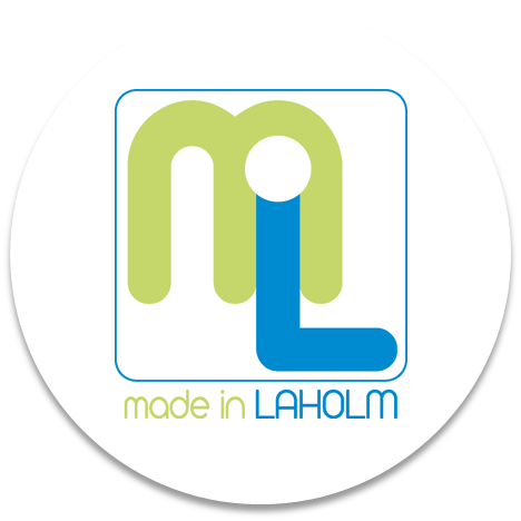 Bilden föreställer Made in Laholms logga