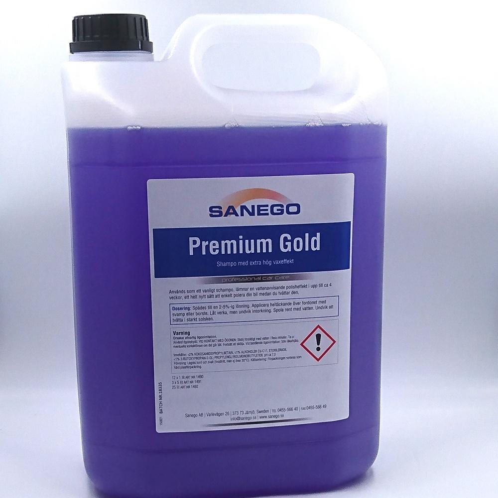 Premium gold från Sanego 5 liter vaxshampo