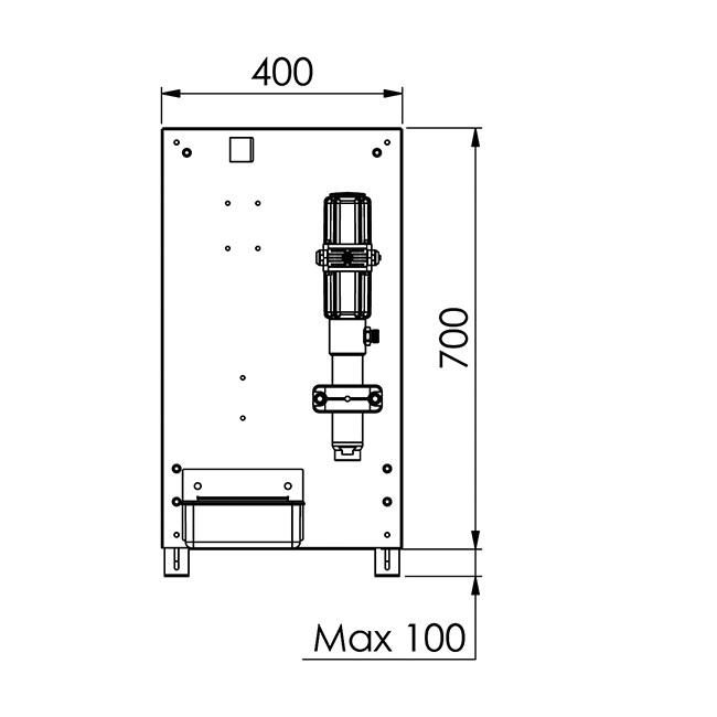 Pumpfäste på IBC 1000 L detaljbild