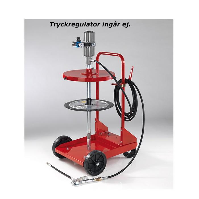 Smörjutrustning för 50 kg fat med 4 hjulig vagn KP7273TA