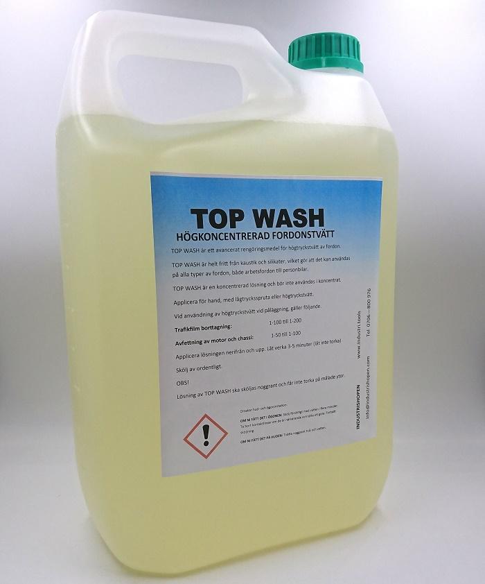 Top WASH 5 liter högkoncentrerad fordonstvätt, hette tidigare Power wash