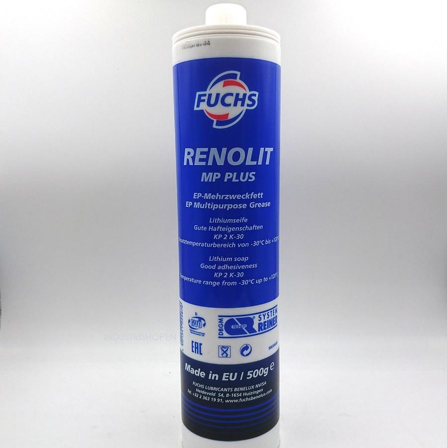 FUCHS RENOLIT MP PLUS EP-fett lithiumfett i SR-patron skruvpatron 500 gram