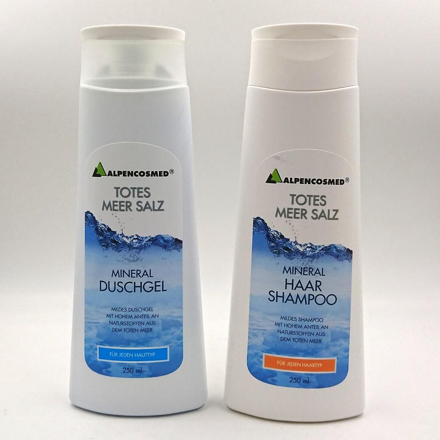DUSCHGEL + HÅRSHAMPO  Mineral Alpencosmed  Totes Meer Salz