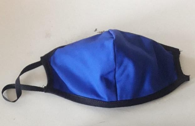 Μπλέ με μαύρη μπορντούρα - blue with black border