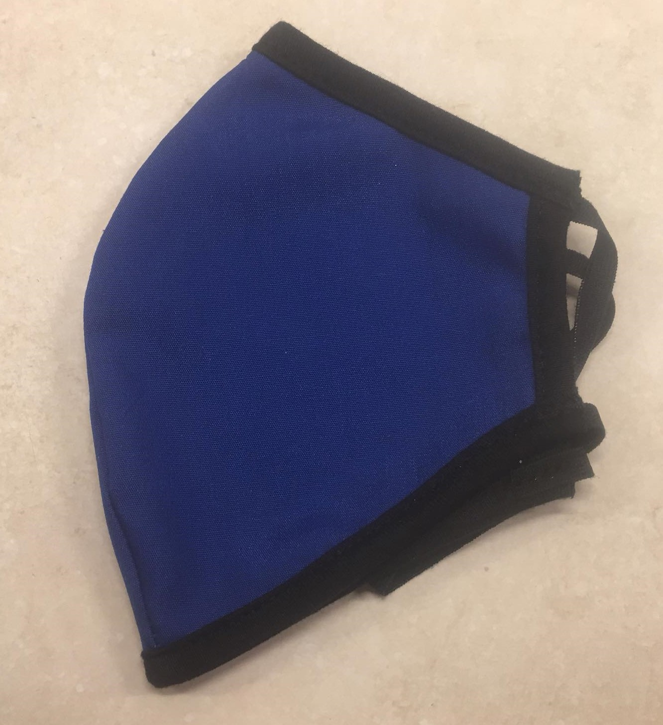 Face mask blue with black