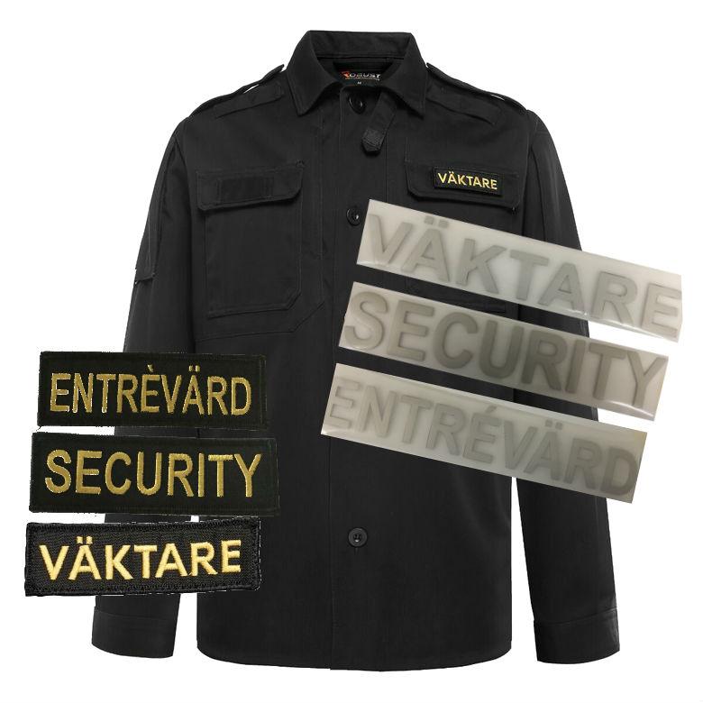 Shirtjacket-black m tryck