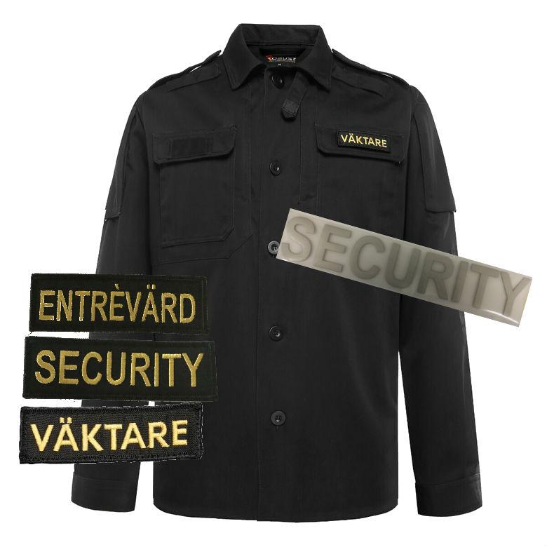 Shirtjacket-black m tryck sec