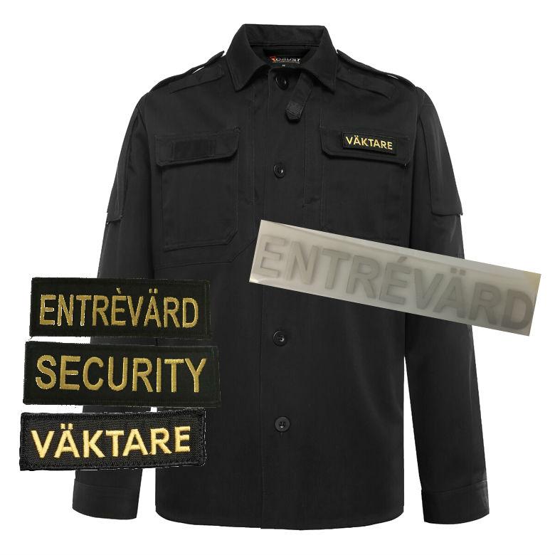 Shirtjacket-black m tryck EV
