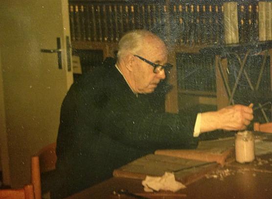Henning Österberg på Sundbybergs Museet 1981. Bild: Sundbybergs Stadsmuseum.