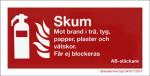 Skylt Skum 200x100 mm Aluminium