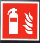 Skylt Brandsläckare efterlysande vinkel