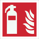 Skylt till Brandsläckare