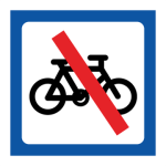 Skylt Ingen cykelparkering