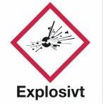 Varningsskylt Explosivt