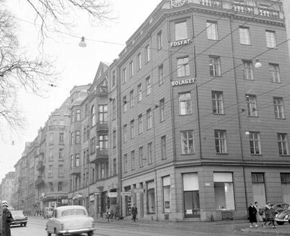 Sturegatan 26 i mitten av 1960-talet.