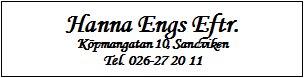 Hanna Engs Eftr.