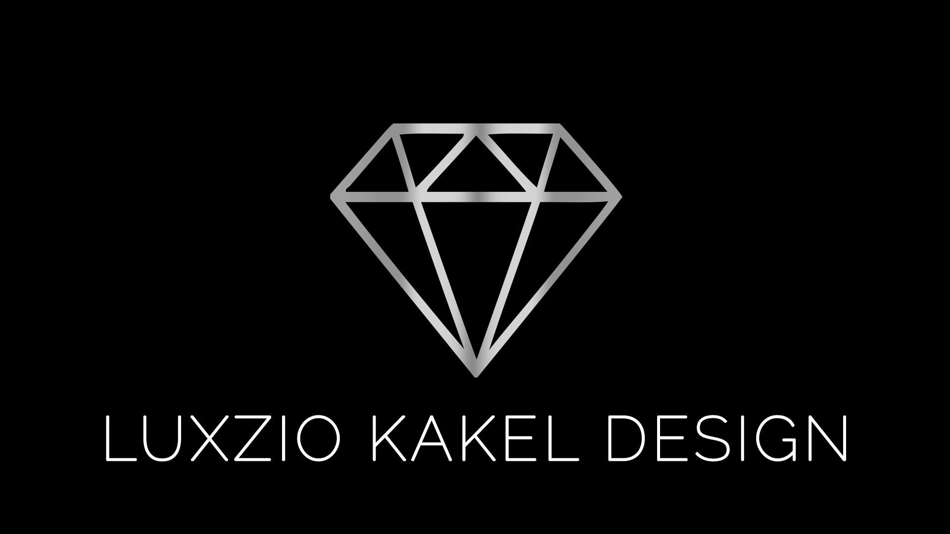 Luxzio logo svart bakgrund