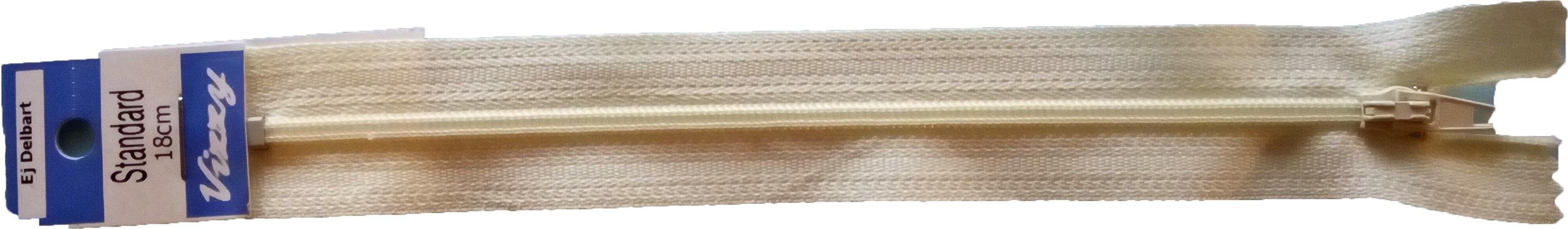 Blixtlås 18 mm Naturvit