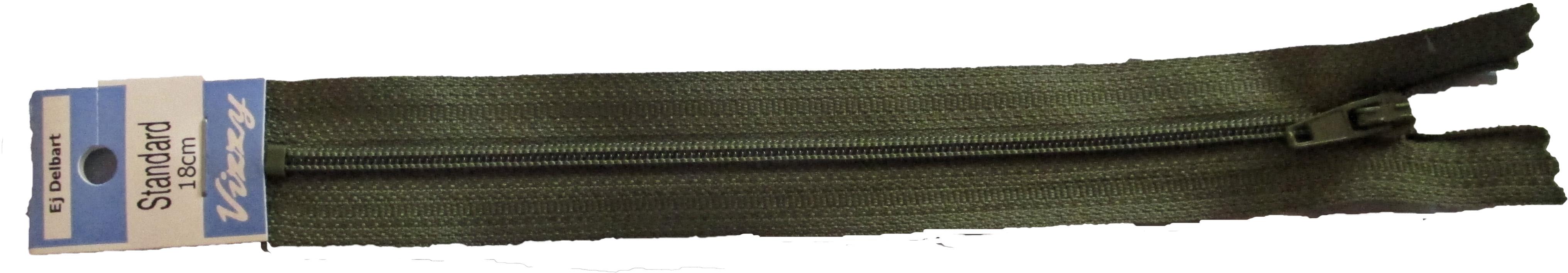 Blixtlås 18 mm Olivgrön