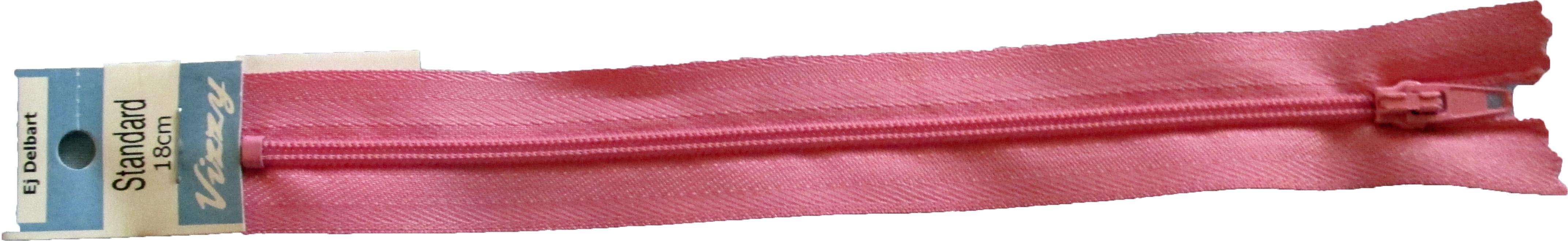 Blixtlås 18 mm Rosa