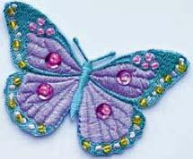 Textilmärke Fjäril - Textilmärke Fjäril