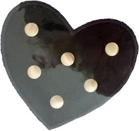 Textilmärke Svart hjärta - Textilmärke Svart Hjärta