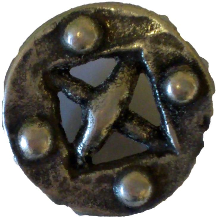 Vikingknapp silver