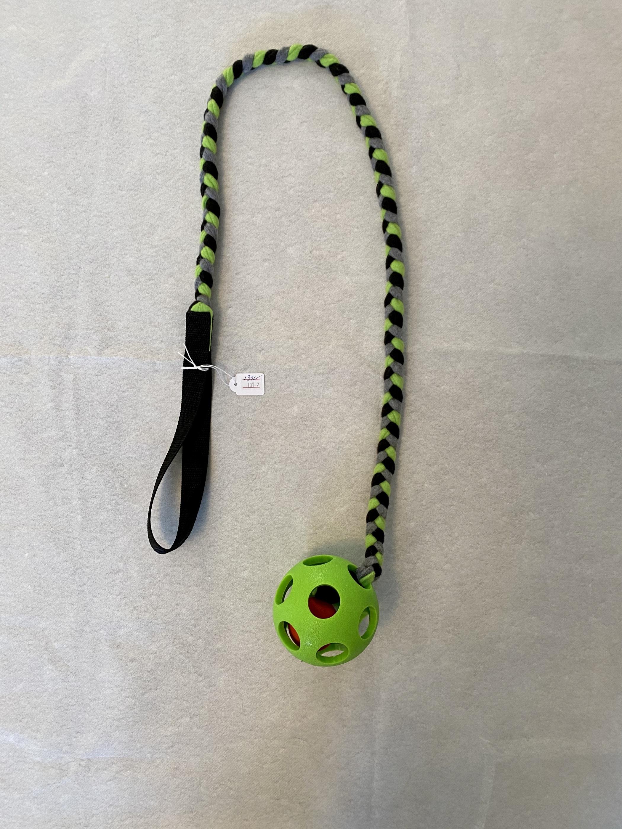 Grön boll lång med handtag