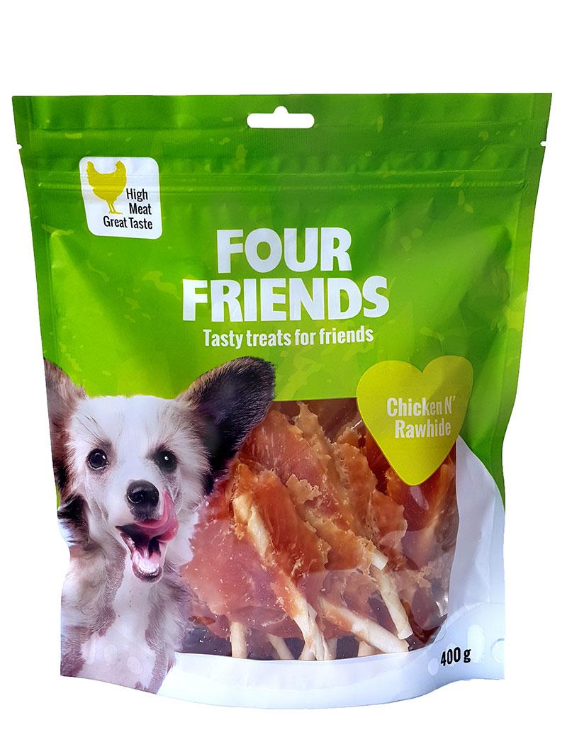 four-friends-tugg-kyckling-rawhide-400g