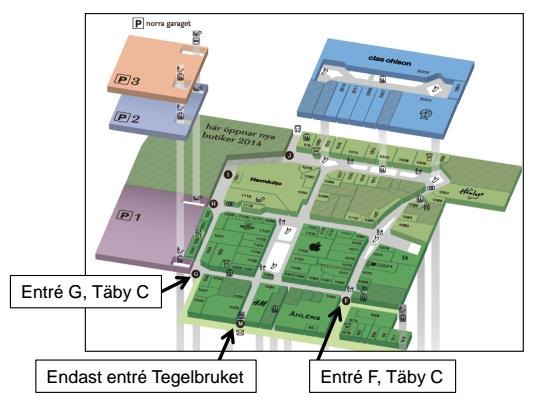 täby centrum karta Täby C: Entré M stängs tillfälligt | Brf Annexet täby centrum karta