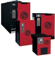 Skruvkompressorer med tillhörande tank, kyltork, reningsverk dimensionerat efter kundens behov.