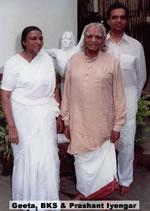 Geeta, BKS och Prashant Iyengar
