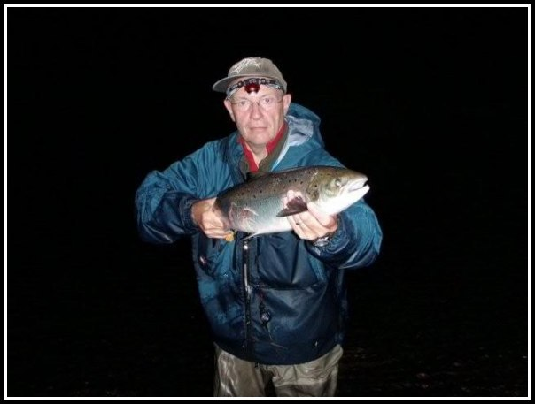 Phil Fairchild with a nice fish caught during the short midsummer nights