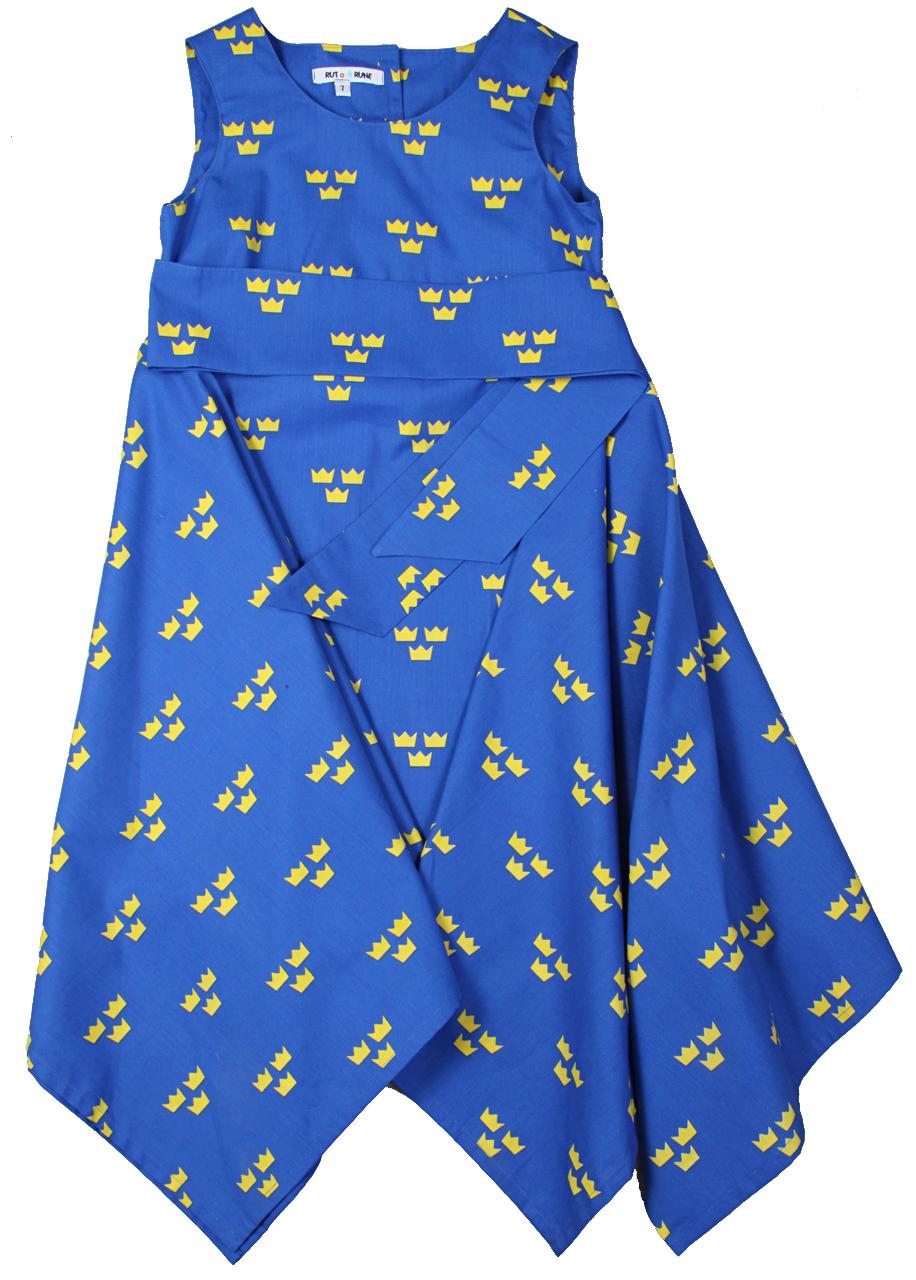 0d2c5a9e4a72 Alla vill ha en klänning med Sverige tre kronor. Blå/Gult passar till fest  ,fotbollsmatcher,alla evenemang och partyn .perfekt souvenir.