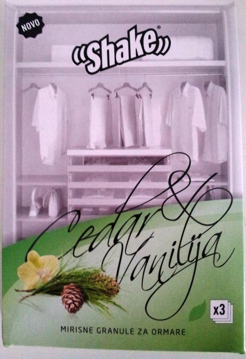 Vanilj & Cedar doftpulver för garderob