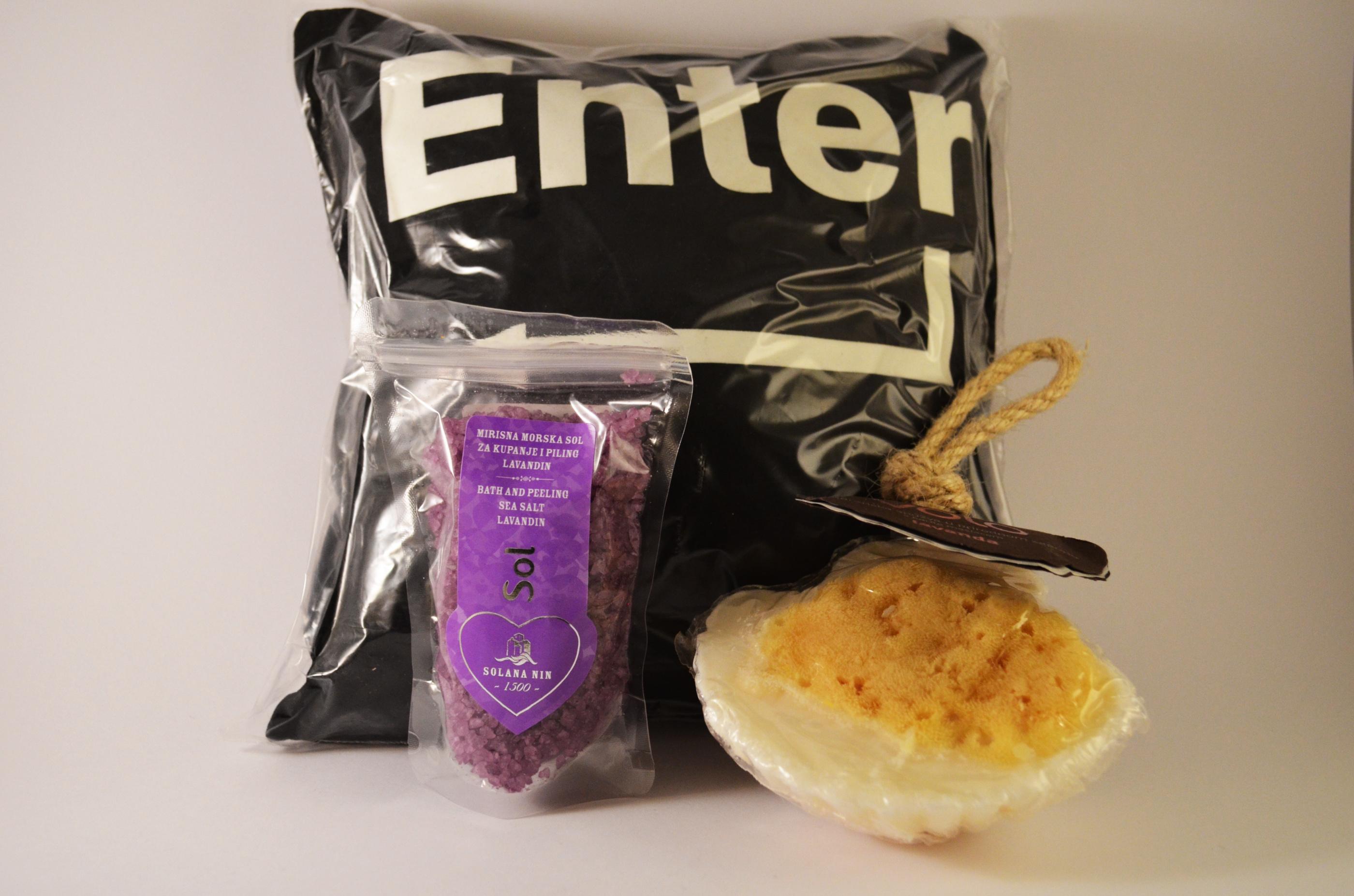 doftkudde lavendel ENTER SVART - badsalt lavendel - duschsvamp