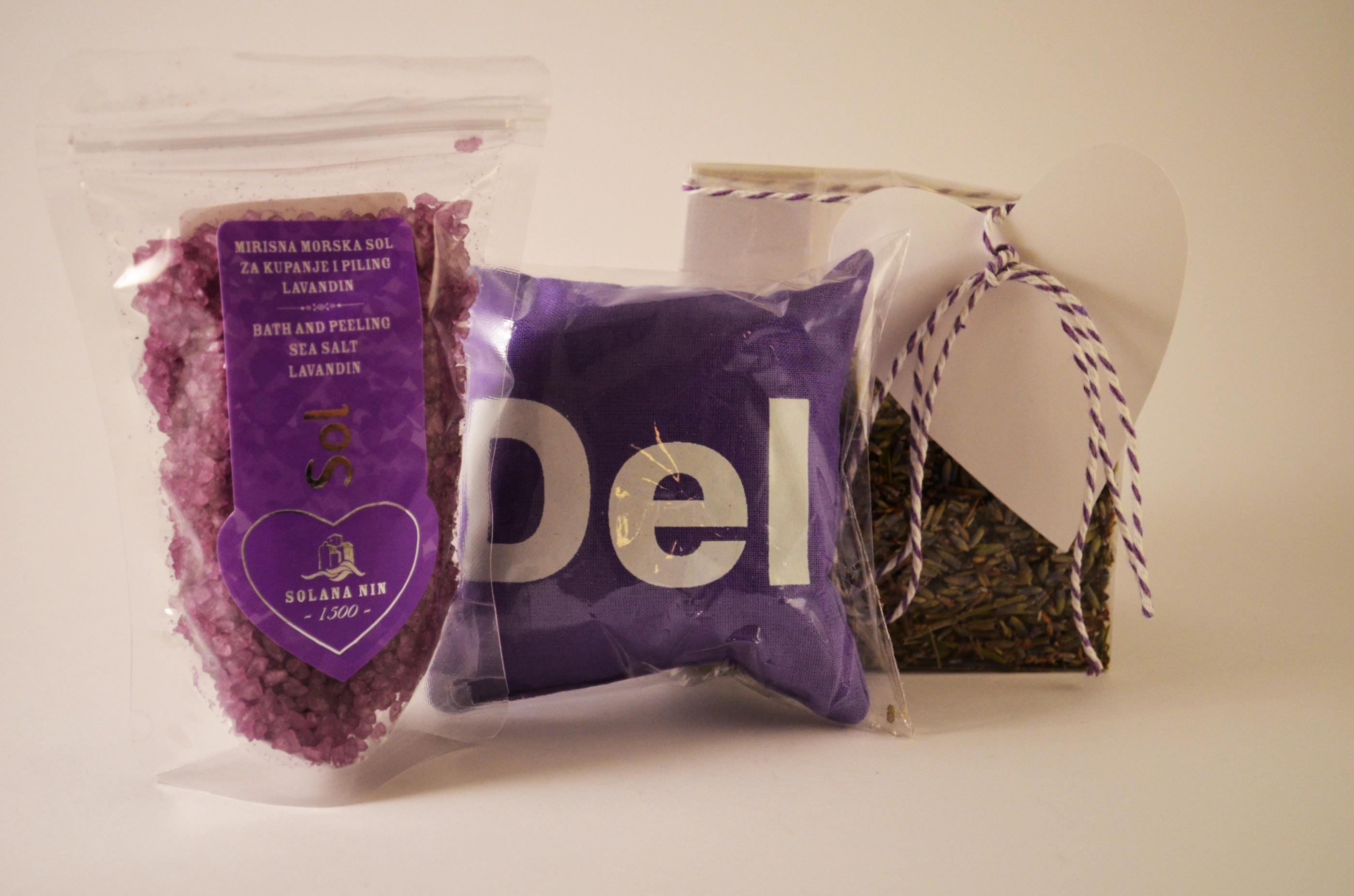 doftkudde lavendelblomma DEL små - badsalt lavendel - lavendelblomma 30g