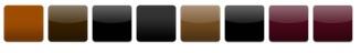 Obehandlad naturröd, Glaserad Mörkbrun, Glaserad Kolsvart, Glaserad Mattsvart, Glaserad Ljusbrun, Glaserad Blanksvart, Glaserad Vinröd, Glaserad Lila