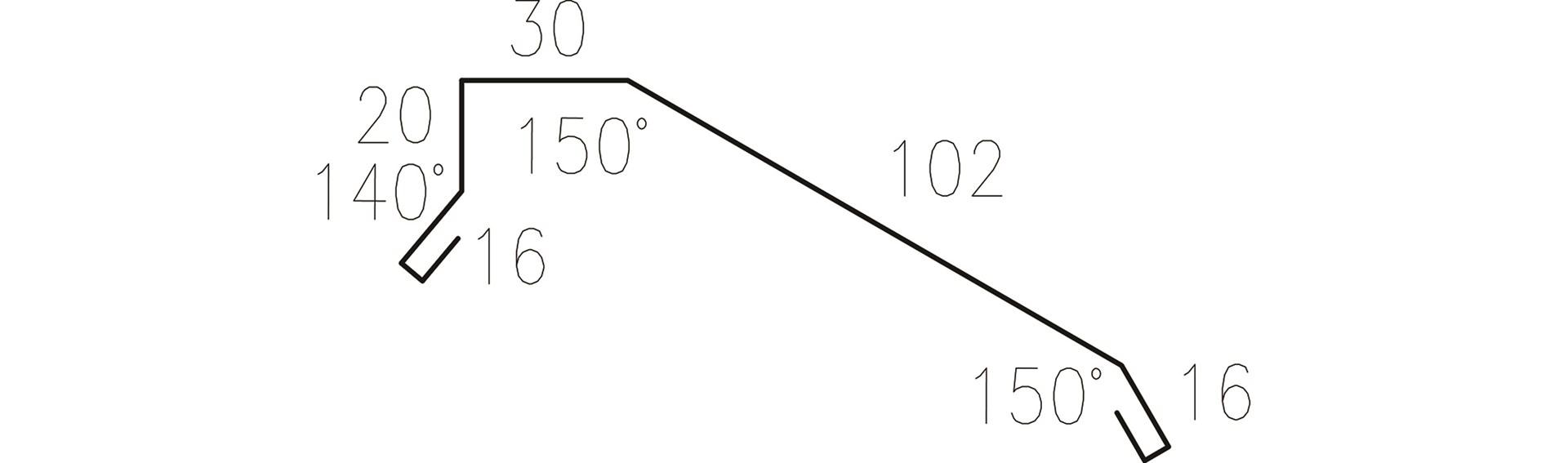 Profilgeometri Gavelbeslag 326625