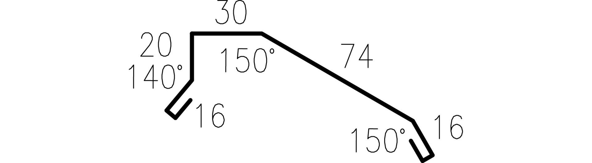 Profilgeometri Gavelbeslag 326626