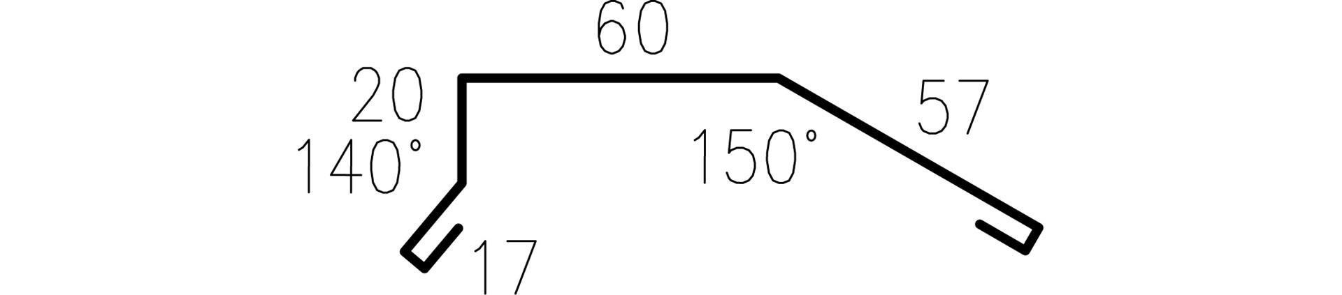 Profilgeometri Gavelbeslag 326627